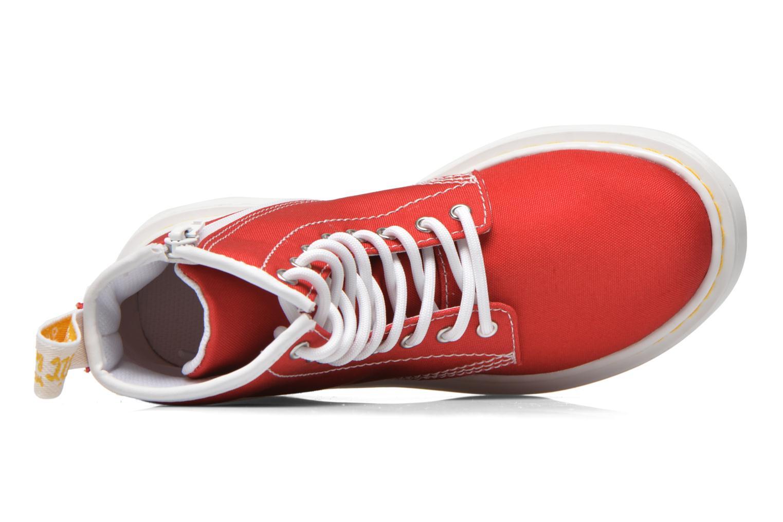 Botines  DR. Martens Juniors Delaney Lace Boot Canvas Rojo vista lateral izquierda