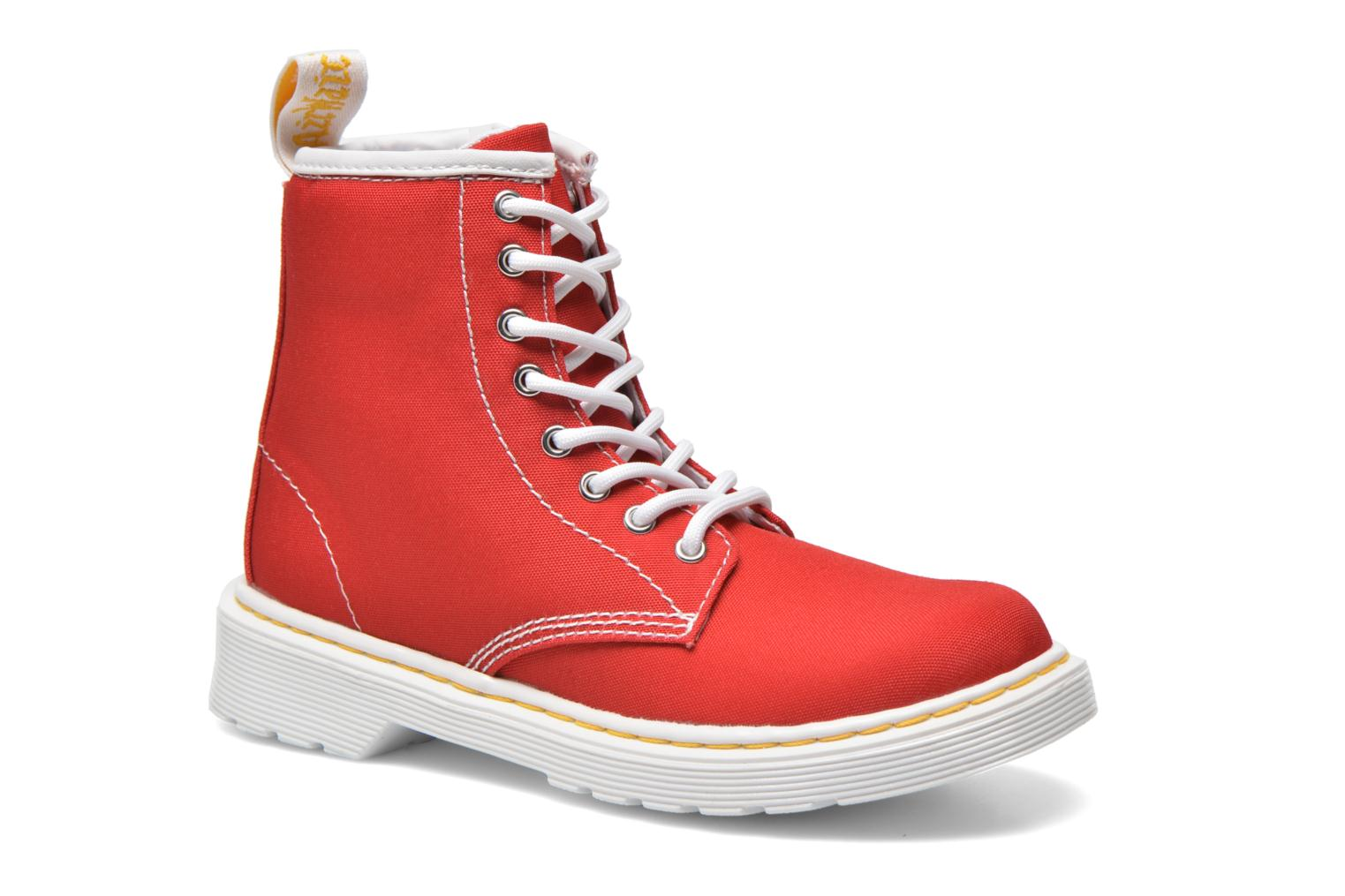 Juniors Delaney Lace Boot Canvas True Red T Canvas