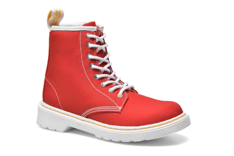 Botines  DR. Martens Juniors Delaney Lace Boot Canvas Rojo vista de detalle / par