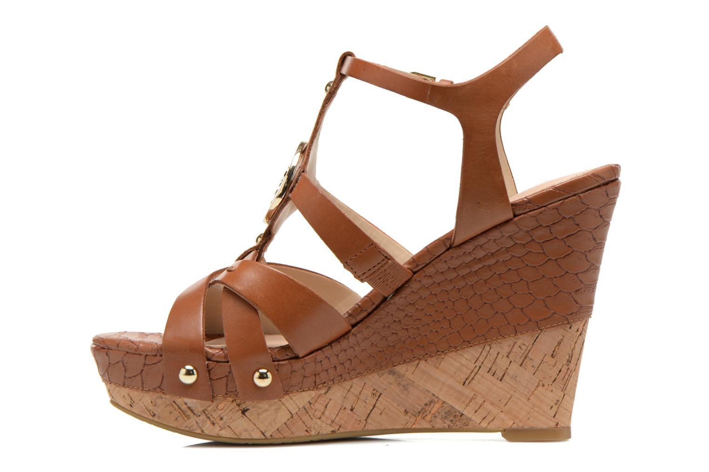 Sandalen Guess Okie braun ansicht von vorne