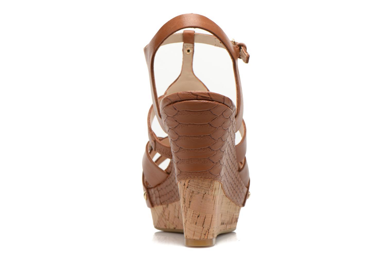 Sandales et nu-pieds Guess Okie Marron vue droite