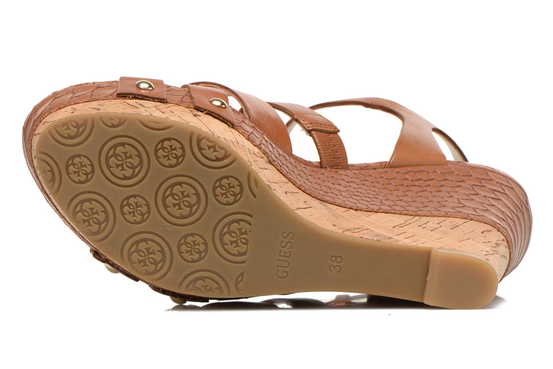 Sandales et nu-pieds Guess Okie Marron vue haut
