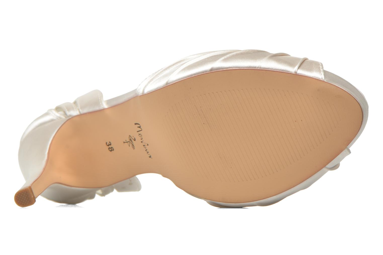 Sandales et nu-pieds Menbur Amelia Blanc vue haut