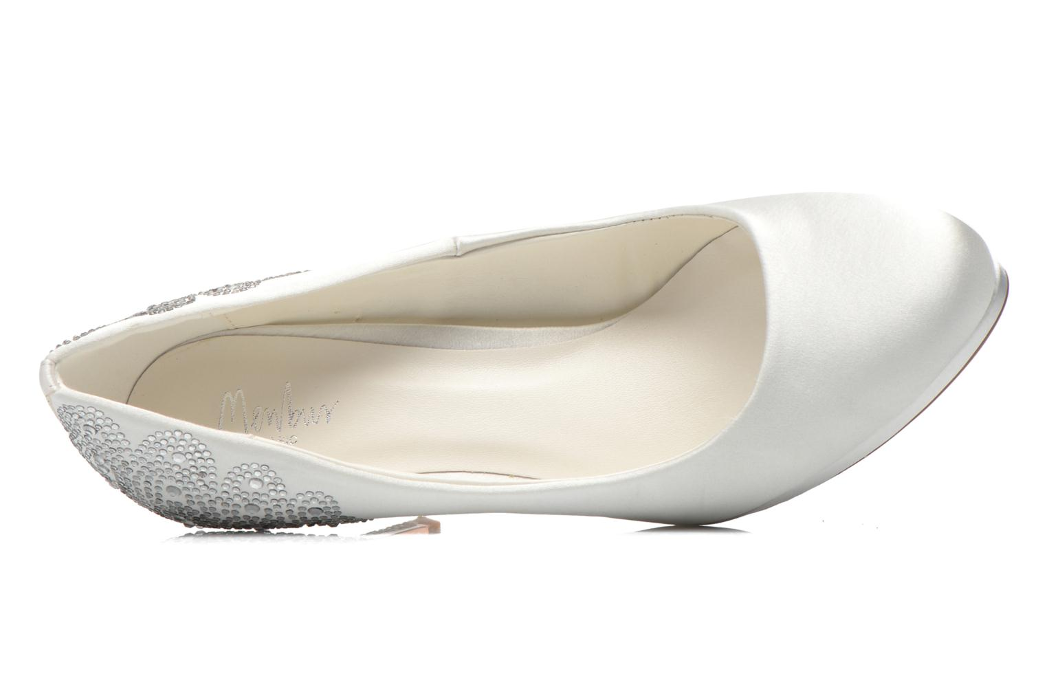 High heels Menbur Zulema White view from the left