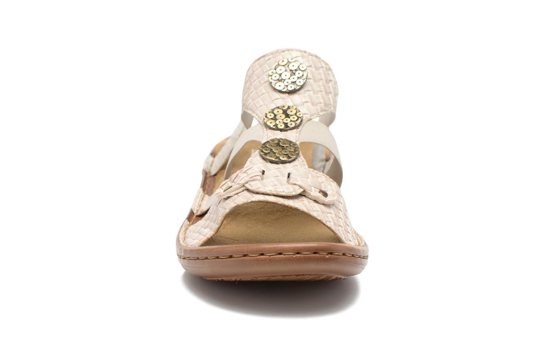 Sandales et nu-pieds Rieker Balada 608B4 Beige vue portées chaussures