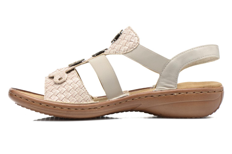 Sandales et nu-pieds Rieker Balada 608B4 Beige vue face