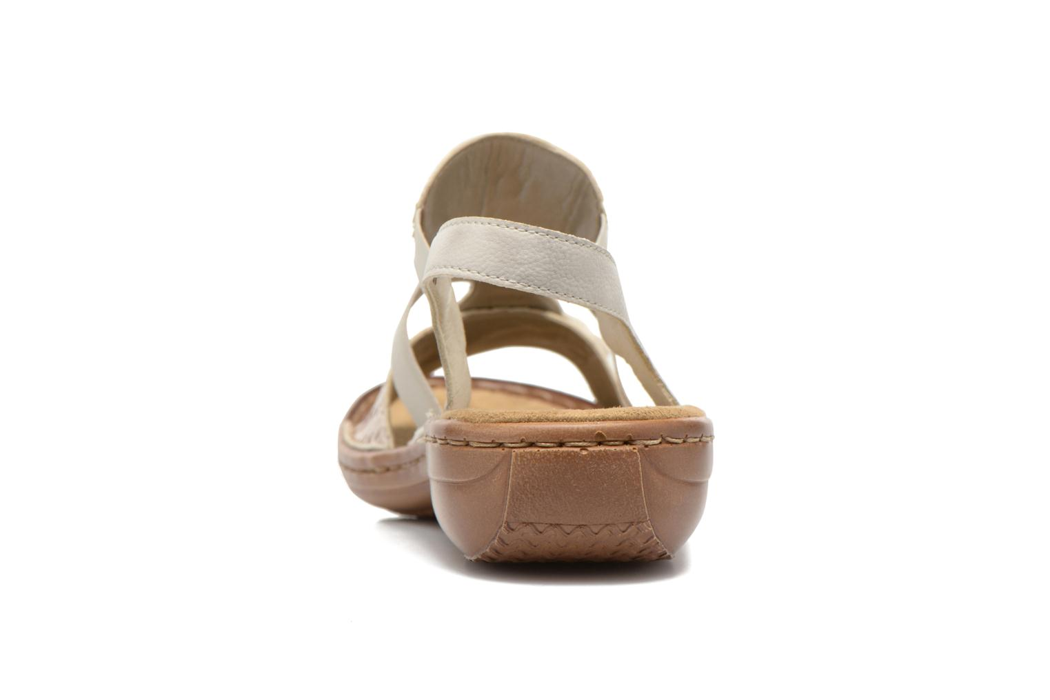 Sandals Rieker Balada 608B4 Beige view from the right