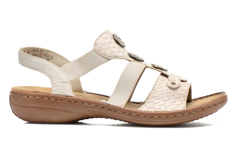 Sandales et nu-pieds Rieker Balada 608B4 Beige vue derrière