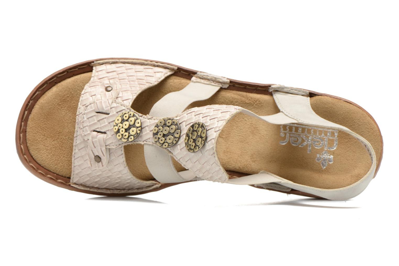 Sandales et nu-pieds Rieker Balada 608B4 Beige vue gauche