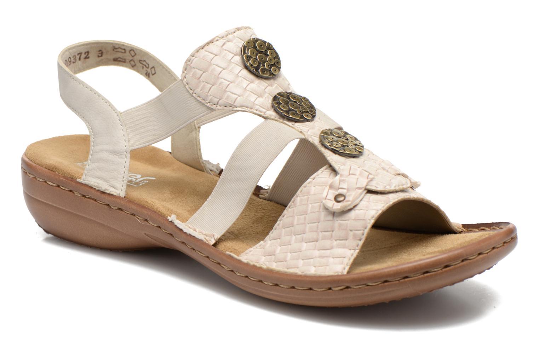 Sandales et nu-pieds Rieker Balada 608B4 Beige vue détail/paire