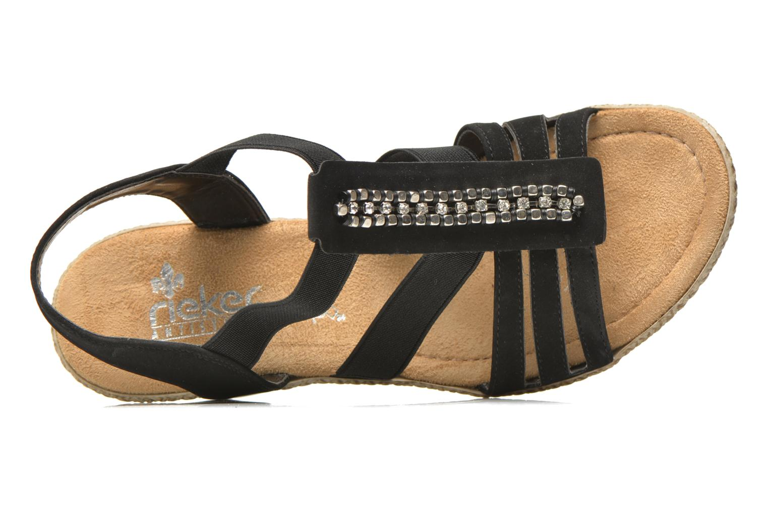 Sandals Rieker Party 66584 Black view from the left