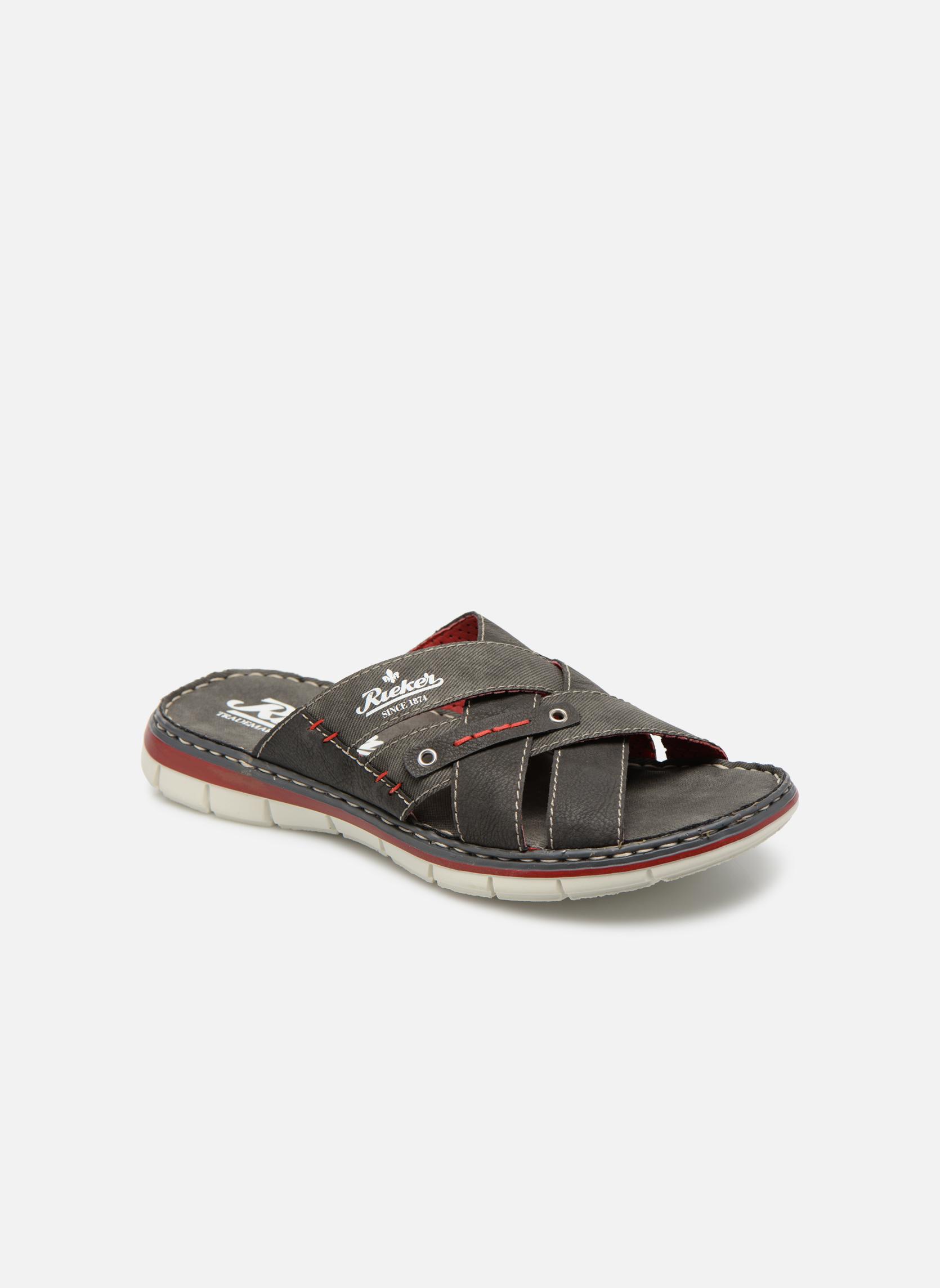 Sandales et nu-pieds Rieker Tyr 25199 Gris vue détail/paire