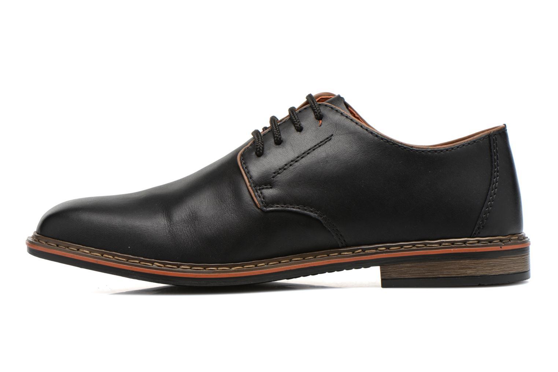 Zapatos con cordones Rieker Theo B1720 Negro vista de frente