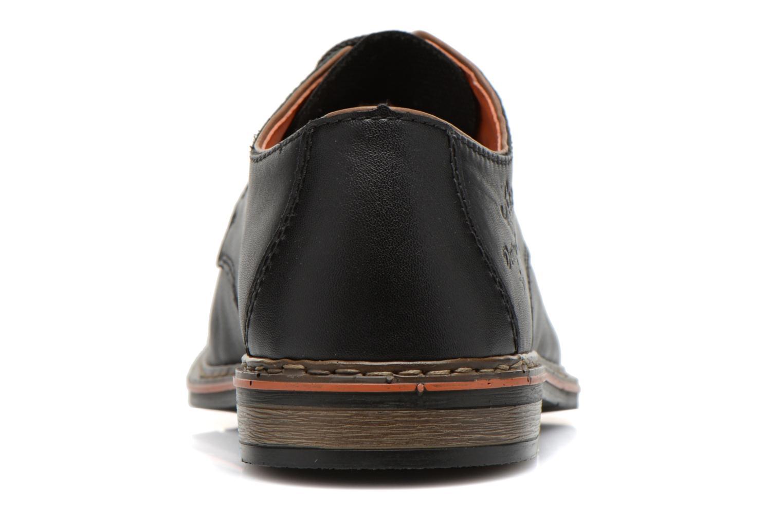 Zapatos con cordones Rieker Theo B1720 Negro vista lateral derecha