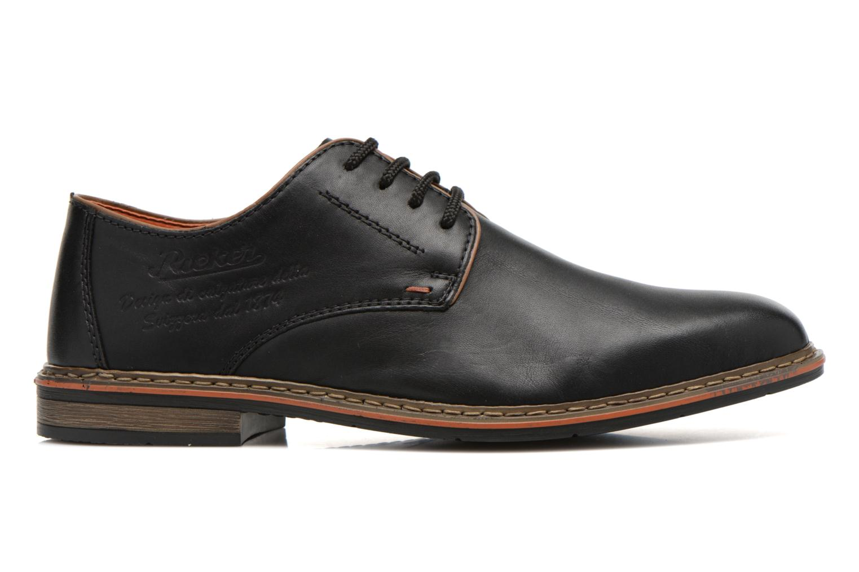 Zapatos con cordones Rieker Theo B1720 Negro vistra trasera