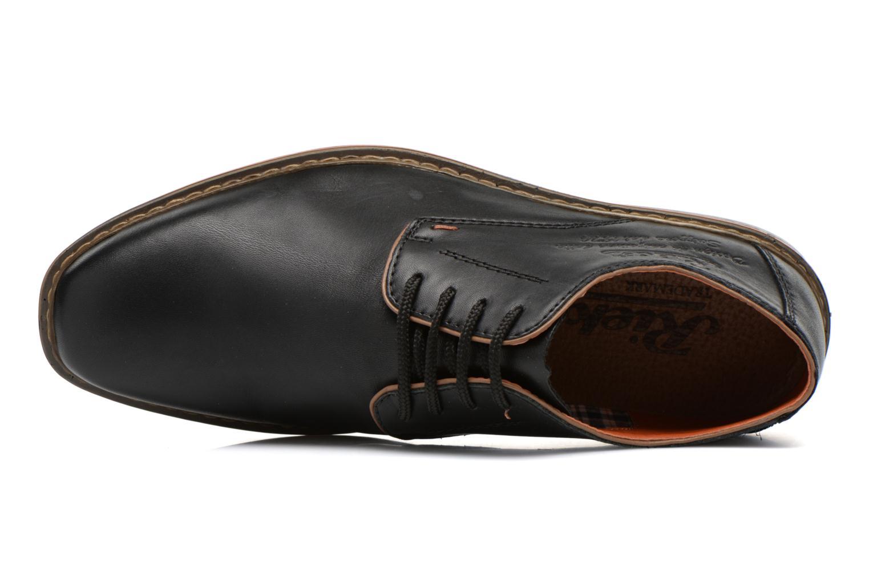 Zapatos con cordones Rieker Theo B1720 Negro vista lateral izquierda