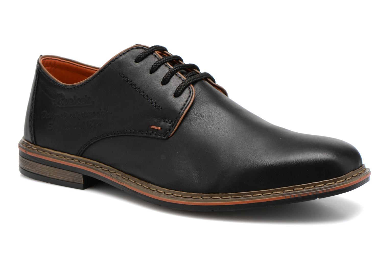 Zapatos con cordones Rieker Theo B1720 Negro vista de detalle / par