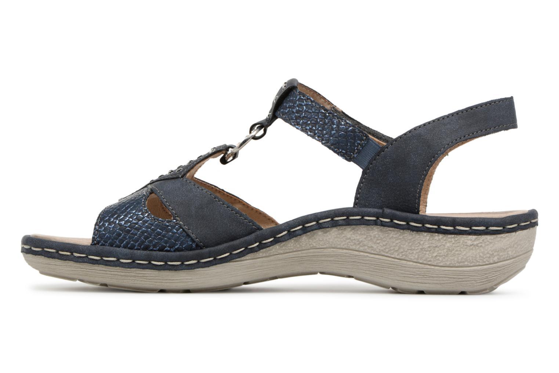 Sandales et nu-pieds Remonte Miny D7668 Bleu vue face