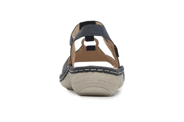 Sandales et nu-pieds Remonte Miny D7668 Bleu vue droite
