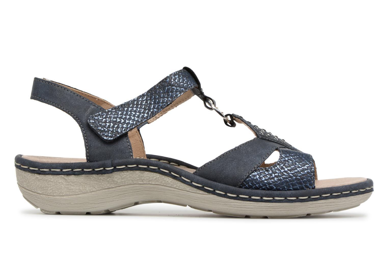 Sandales et nu-pieds Remonte Miny D7668 Bleu vue derrière