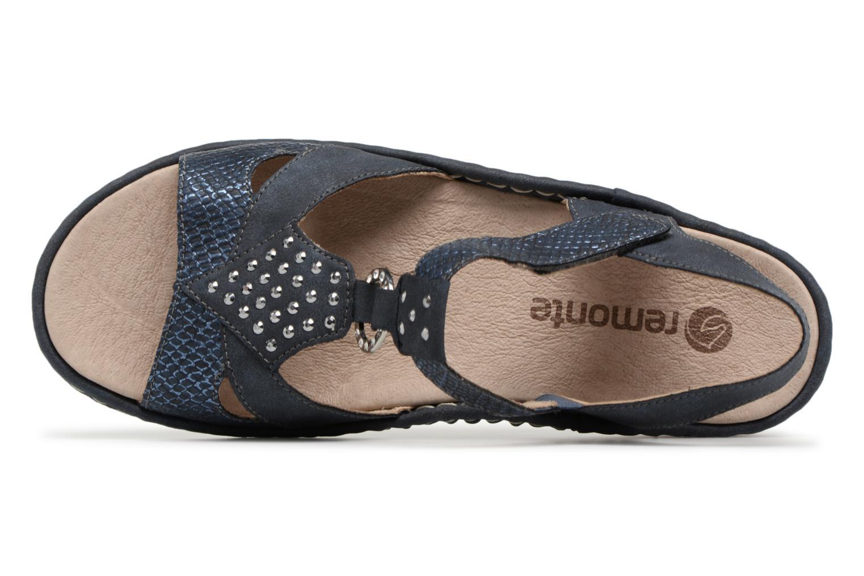 Sandales et nu-pieds Remonte Miny D7668 Bleu vue gauche