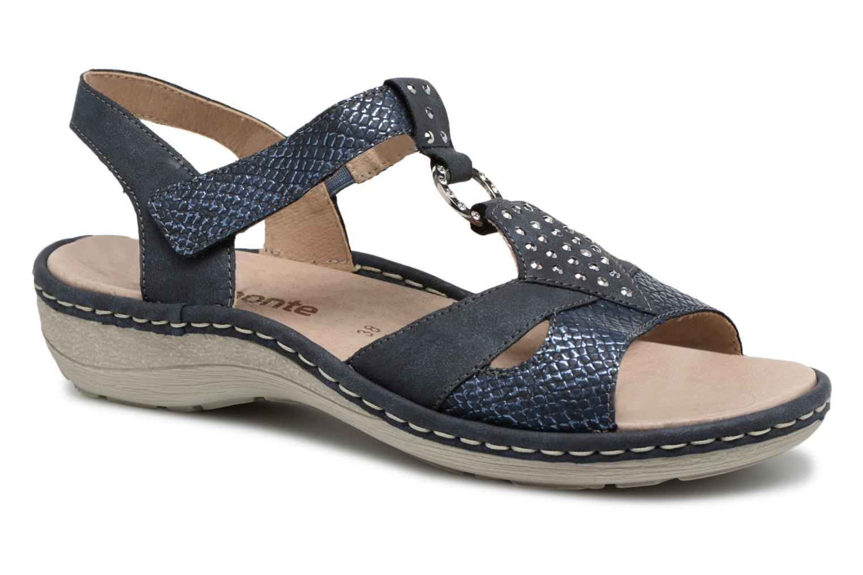 Sandales et nu-pieds Remonte Miny D7668 Bleu vue détail/paire