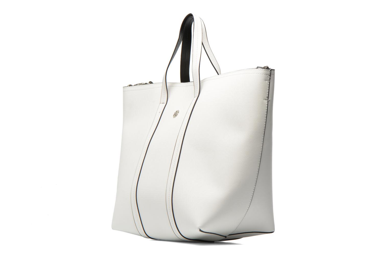 Sacs à main Pieces Tiffany Shopping bag Blanc vue portées chaussures