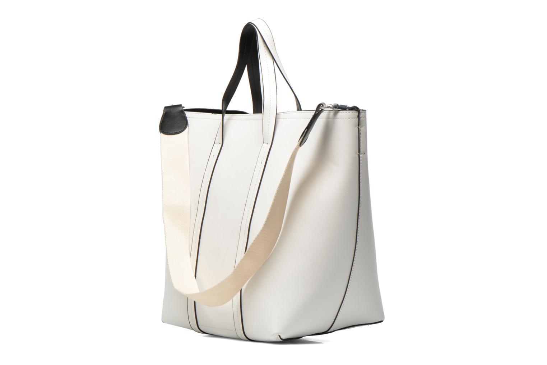 Bolsos de mano Pieces Tiffany Shopping bag Blanco vista lateral derecha
