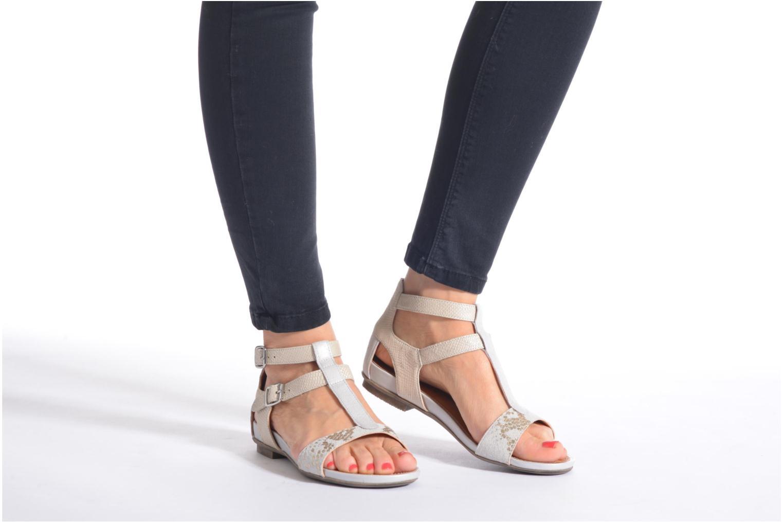 Sandales et nu-pieds Karston Kozin Or et bronze vue bas / vue portée sac