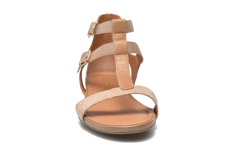 Sandales et nu-pieds Karston Kozin Or et bronze vue portées chaussures