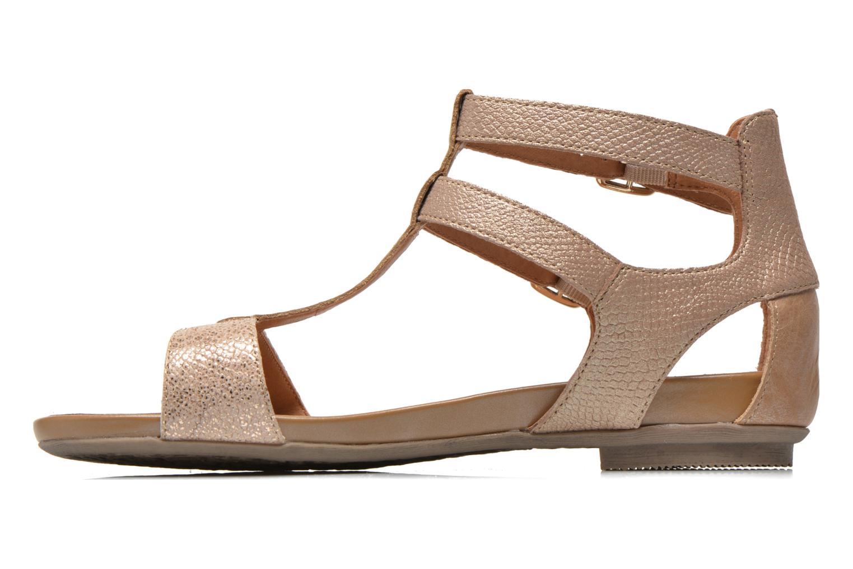 Sandales et nu-pieds Karston Kozin Or et bronze vue face