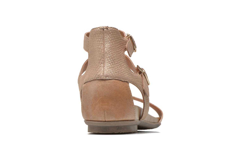 Sandales et nu-pieds Karston Kozin Or et bronze vue droite