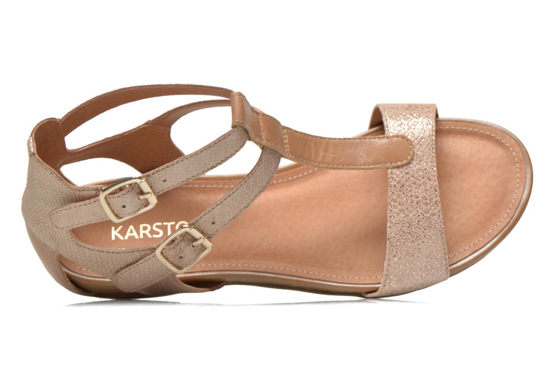 Sandales et nu-pieds Karston Kozin Or et bronze vue gauche