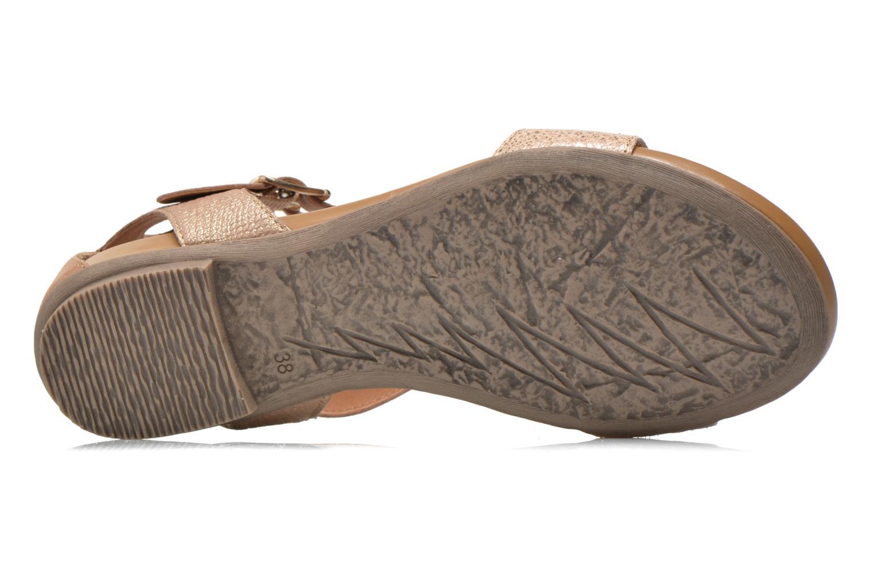 Sandales et nu-pieds Karston Kozin Or et bronze vue haut
