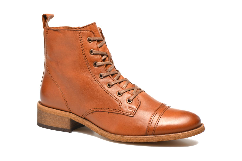 Ankelstøvler Georgia Rose Casaki Brun detaljeret billede af skoene