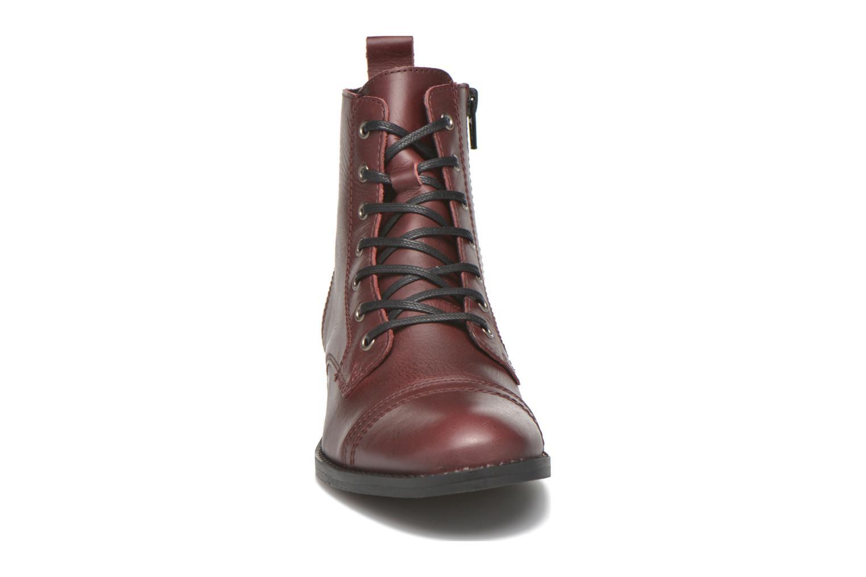 Bottines et boots Georgia Rose Casaki Bordeaux vue portées chaussures