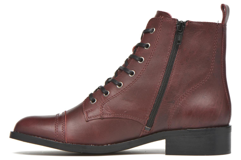 Bottines et boots Georgia Rose Casaki Bordeaux vue face
