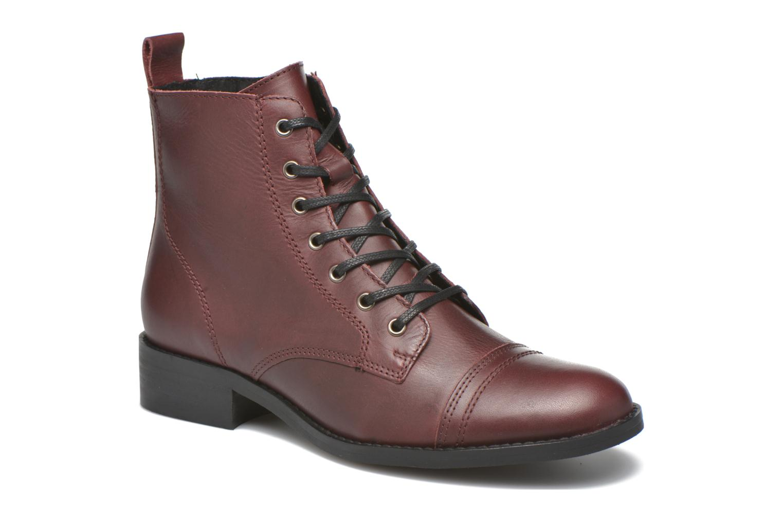 Bottines et boots Georgia Rose Casaki Bordeaux vue détail/paire
