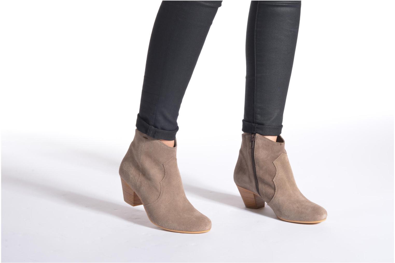 Bottines et boots Georgia Rose Ceceki Bleu vue bas / vue portée sac