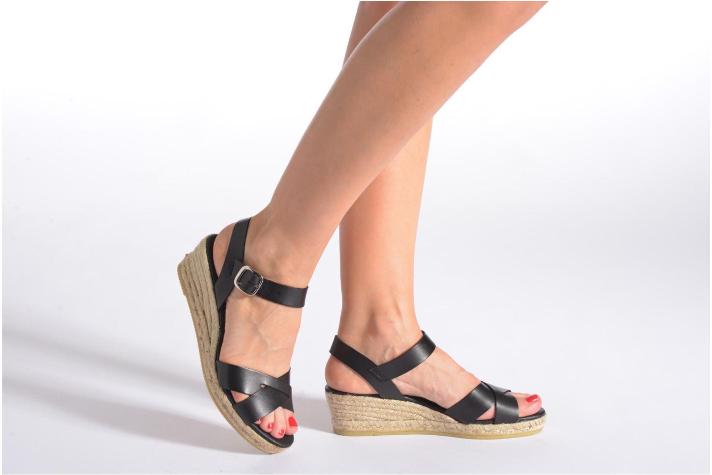 Sandales et nu-pieds Georgia Rose Inof Noir vue bas / vue portée sac