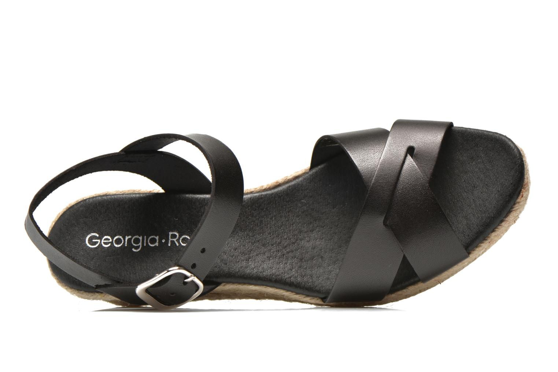 Sandales et nu-pieds Georgia Rose Inof Noir vue gauche