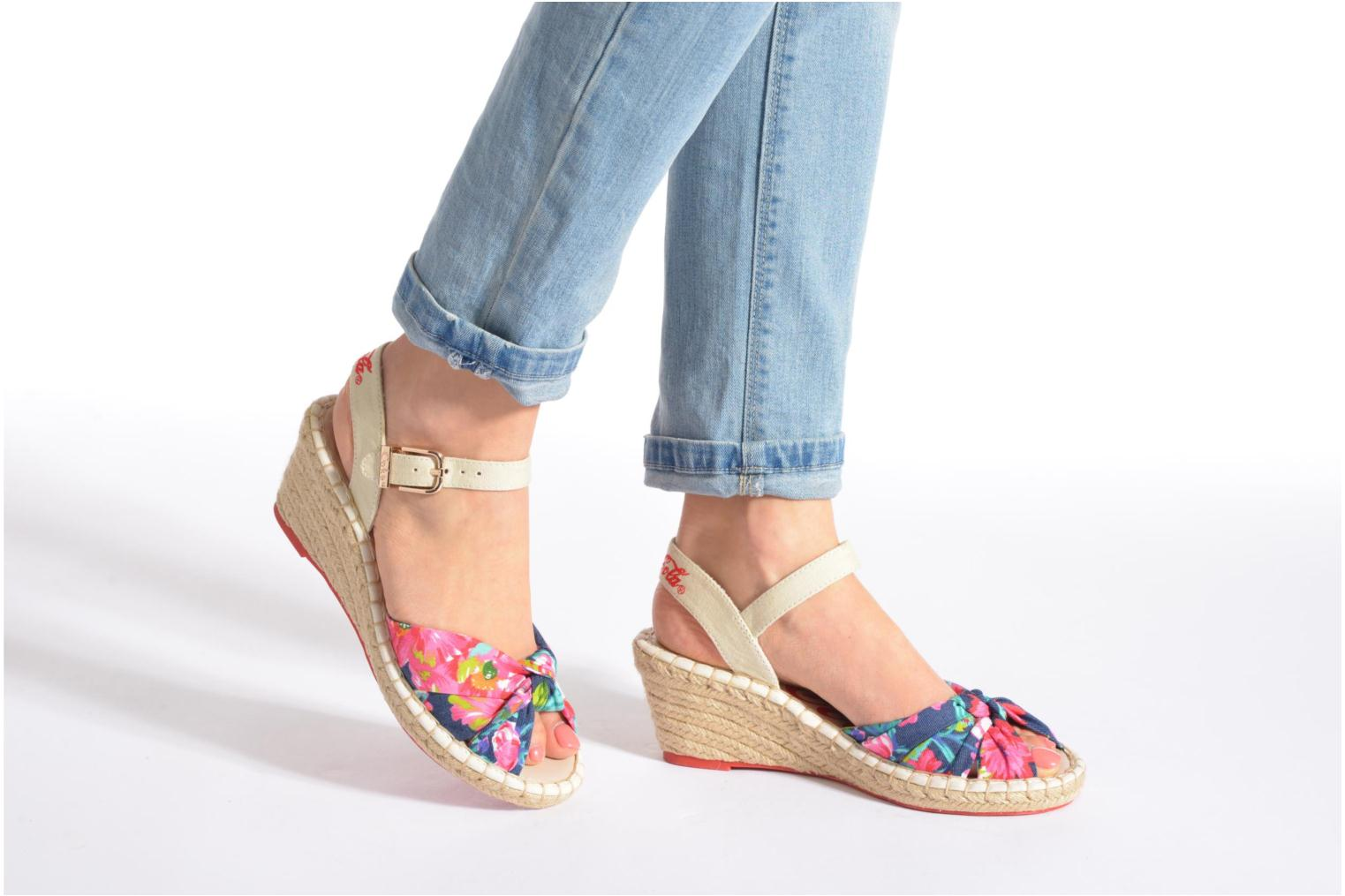 Sandals Coca-cola shoes City Floral Multicolor view from underneath / model view