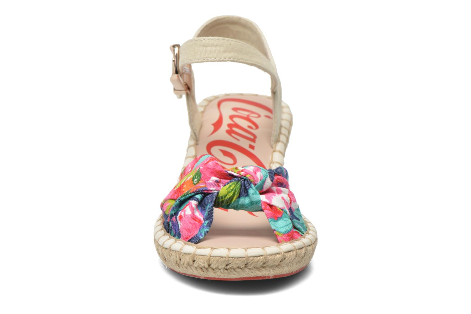 Sandals Coca-cola shoes City Floral Multicolor model view