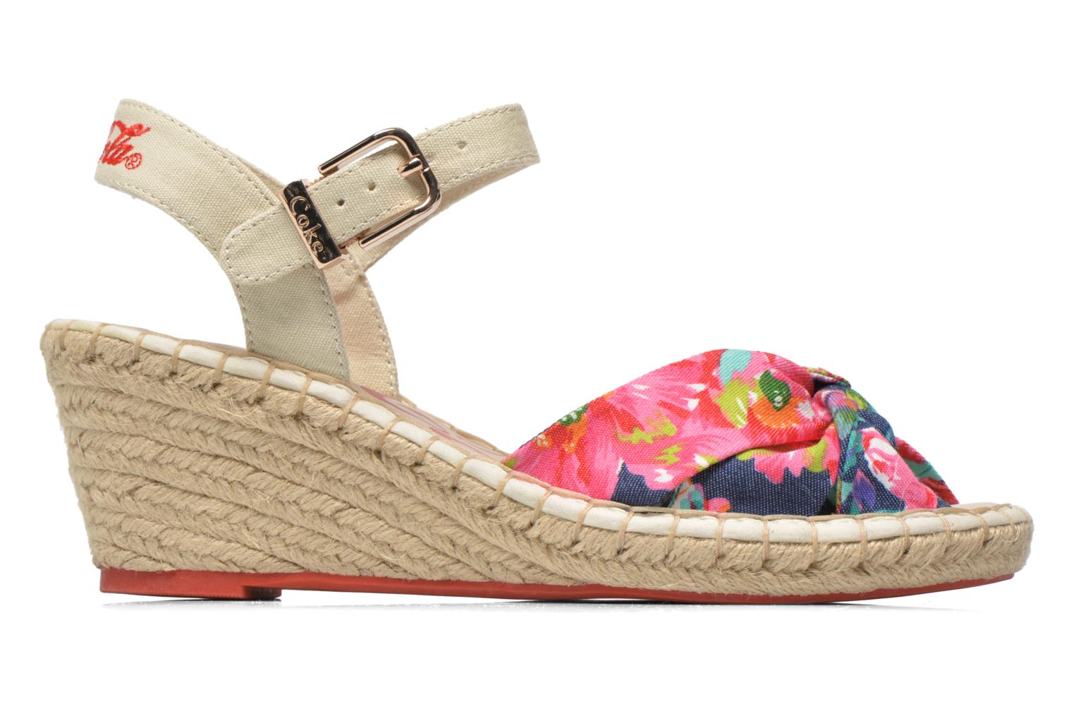 Sandals Coca-cola shoes City Floral Multicolor back view