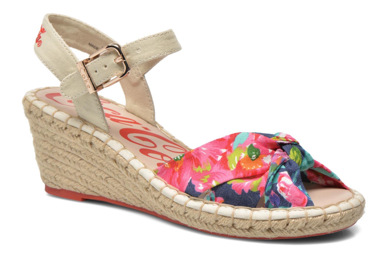 Sandales et nu-pieds Coca-cola shoes City Floral Multicolore vue détail/paire