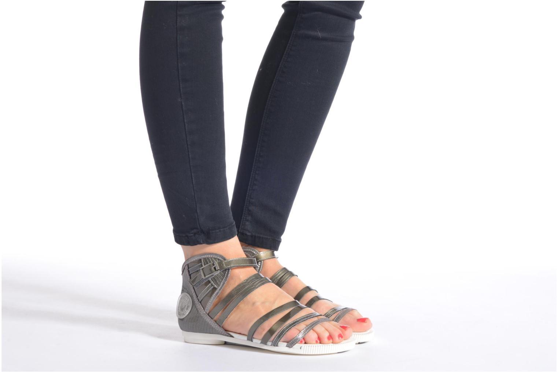Sandales et nu-pieds Pataugas Chic/V Argent vue bas / vue portée sac