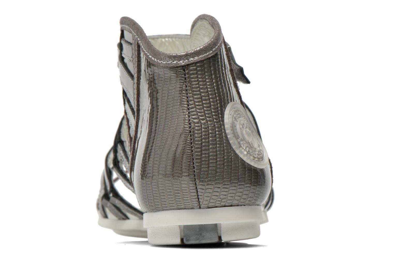 Sandales et nu-pieds Pataugas Chic/V Argent vue droite
