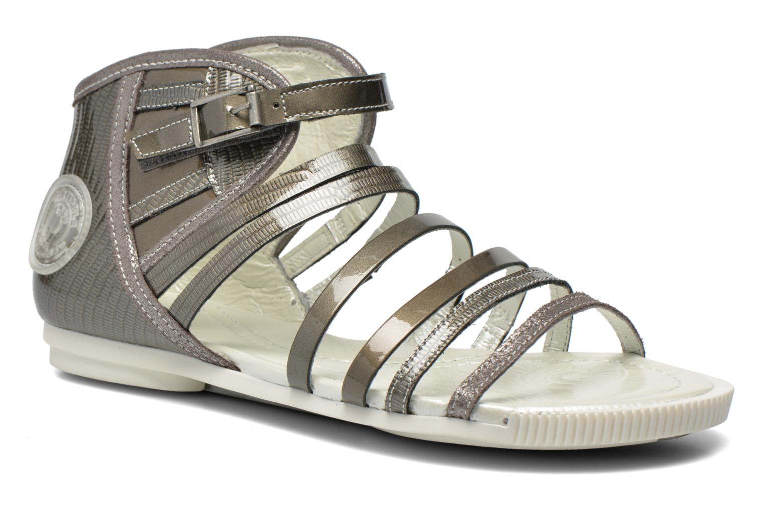 Sandals Pataugas Chic/V Silver detailed view/ Pair view