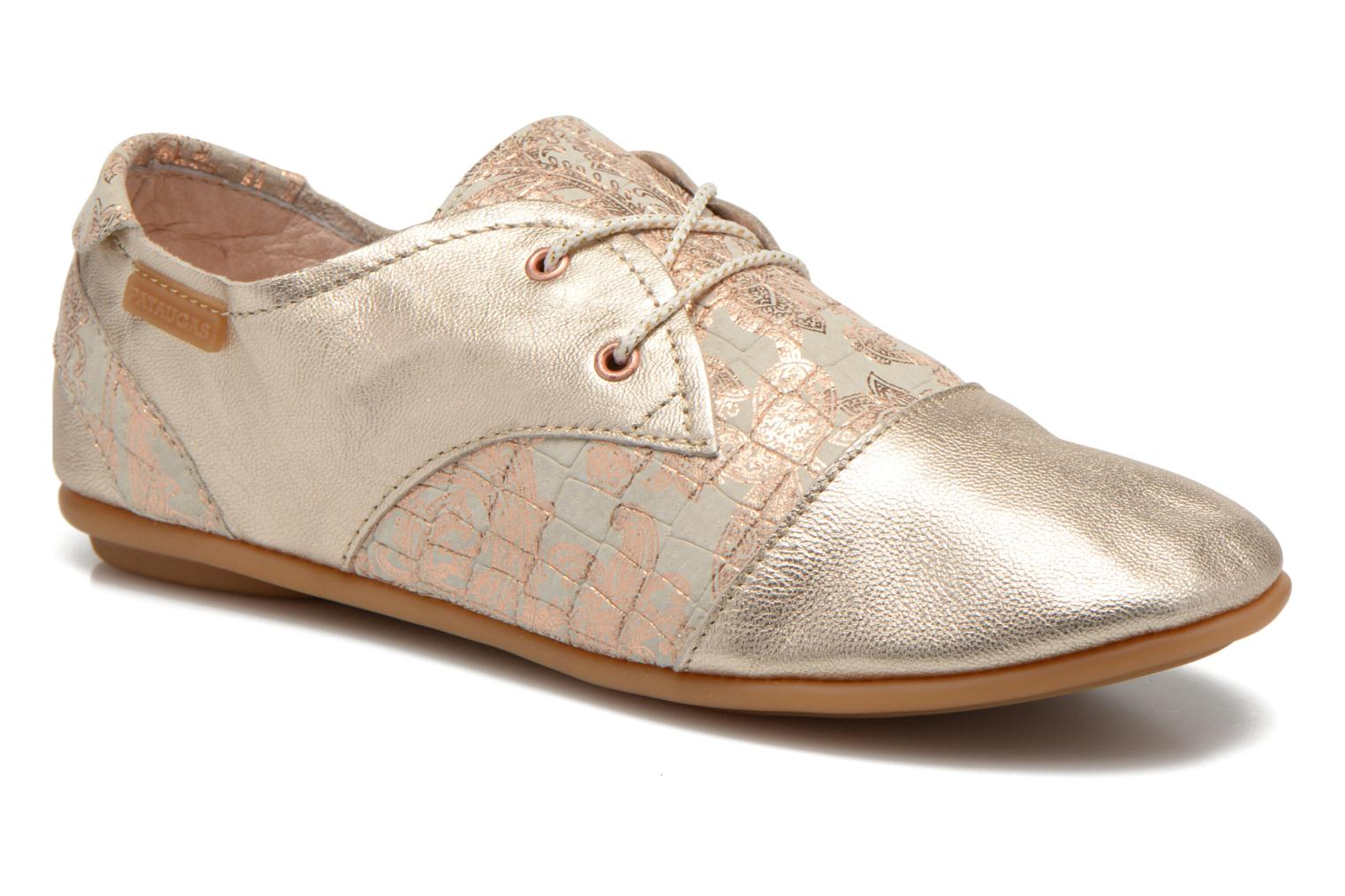 Trainers Pataugas Swing/CA Bronze and Gold detailed view/ Pair view