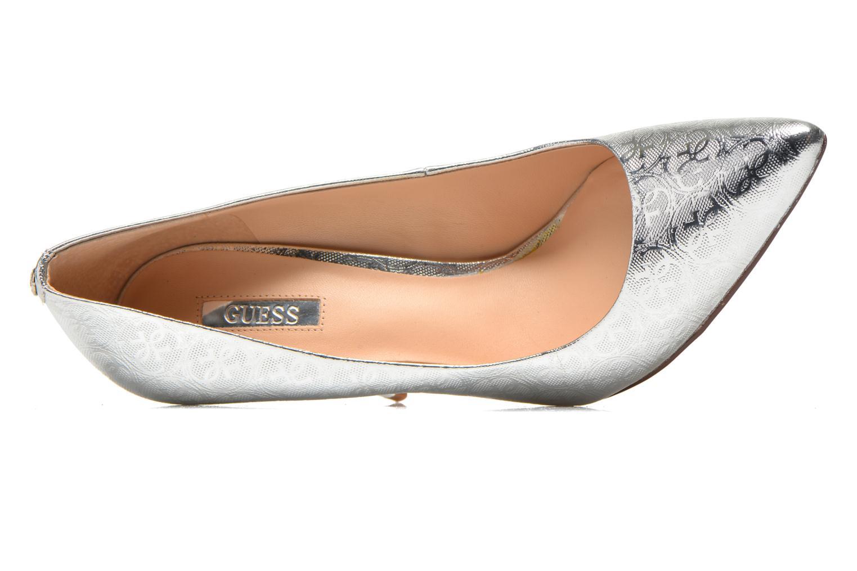 Zapatos de tacón Guess Plasma6 Plateado vista lateral izquierda